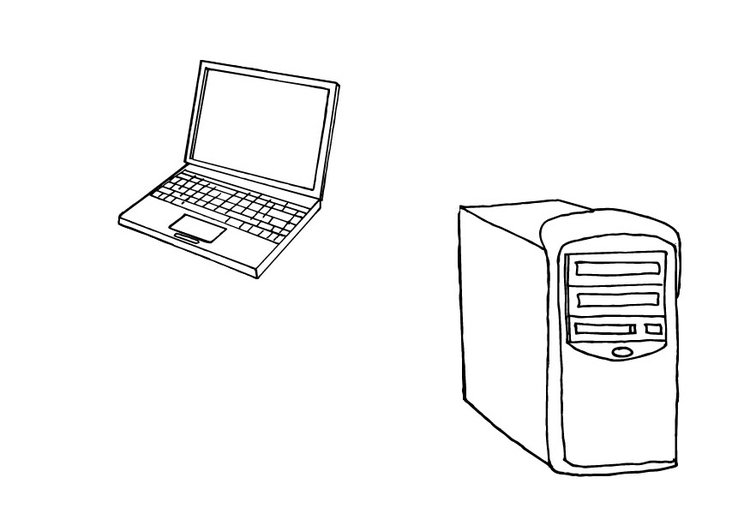 Coloring page computers
