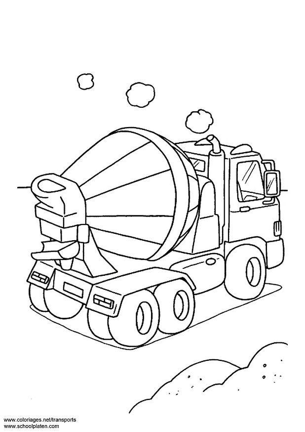 cement mixer coloring page - coloring page concrete mixer img 3091