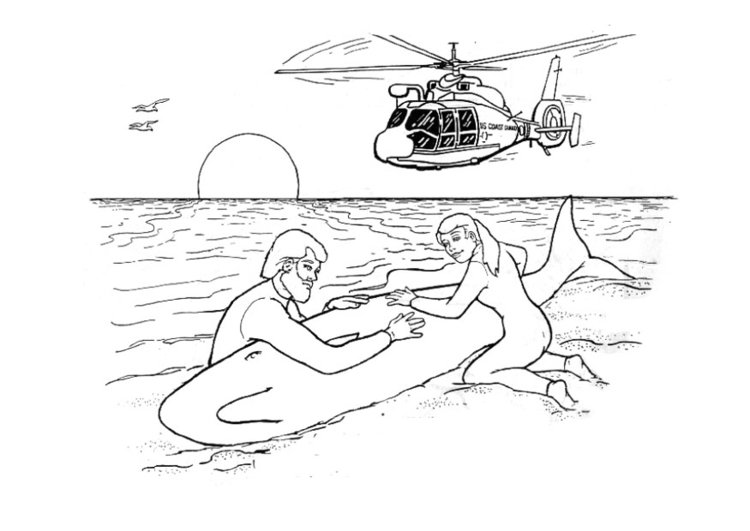 Coloring page consequences of polluted water