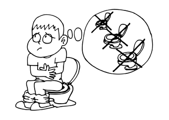 Coloring page constipation