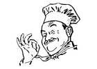 Coloring page cook