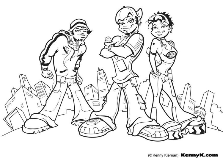 Coloring page cool mp3