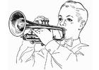 Coloring page cornet