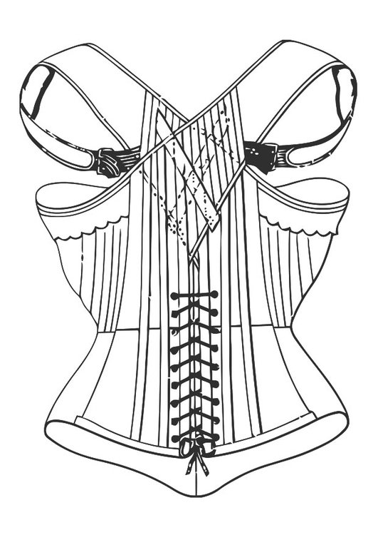 Coloring page corset