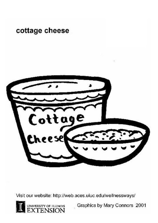 Coloring page cottage cheese