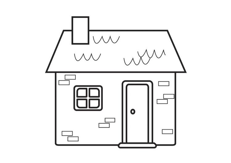 Coloring page cottage