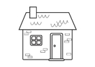 Coloring pages cottage