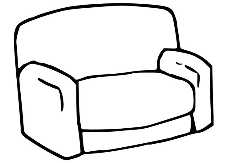 coloring pages couch - photo#13