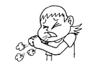 Coloring pages coughing