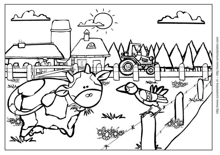 Coloring page cow 2