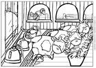 Coloring pages cow 4