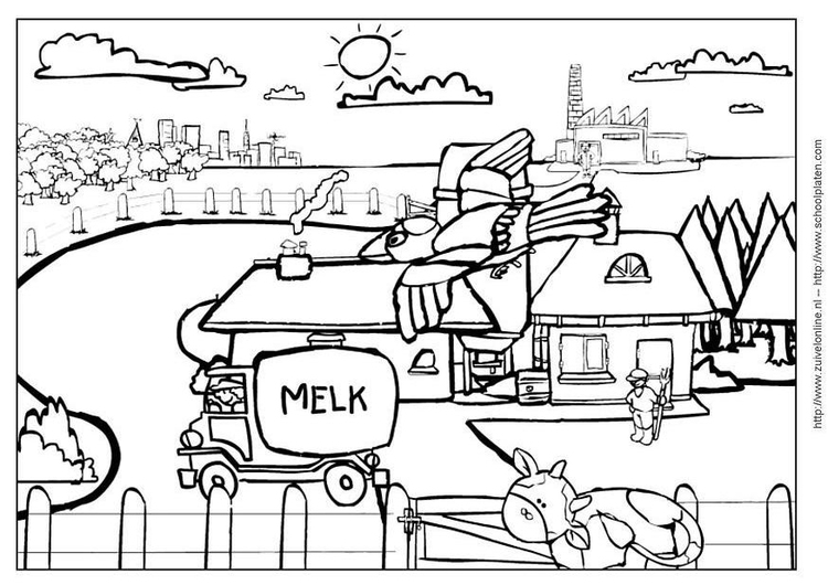 Coloring page cow 5