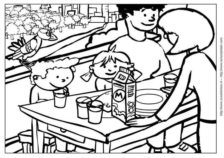 Coloring page cow 9