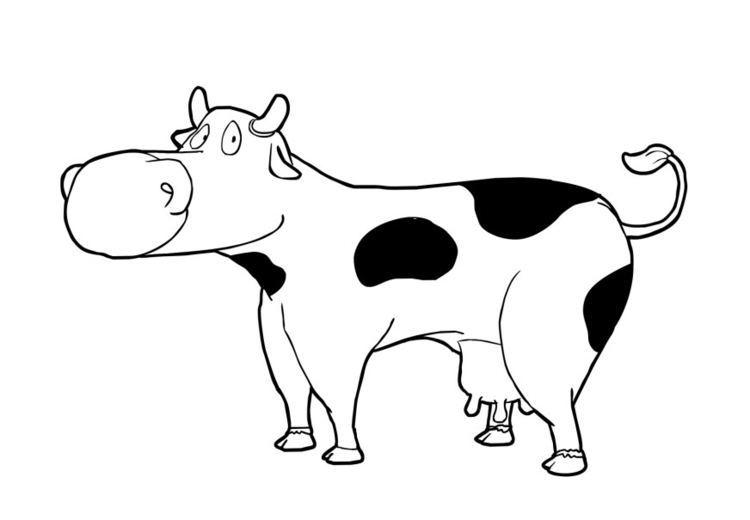 Coloring page cow