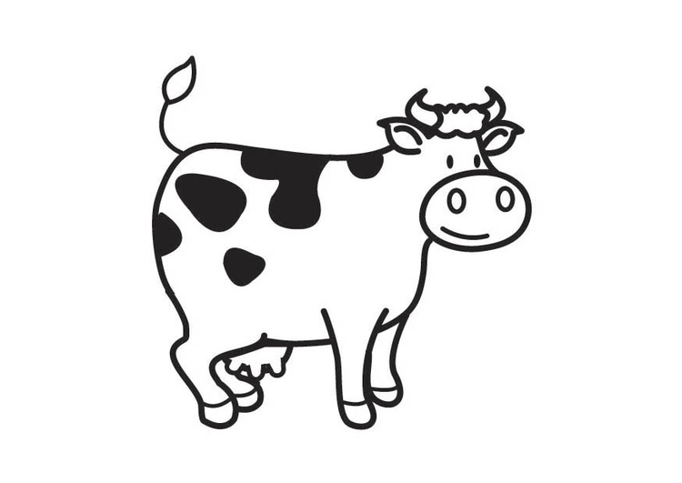 Coloring page Cow - img 17541.