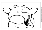 Coloring pages Dairy cattle breeding