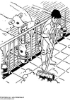 Coloring pages cow stall
