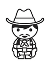 Coloring pages Cowboy