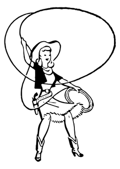 Coloring page cowgirl