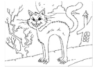 Coloring pages creepy cat