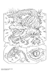 Coloring page crocodile