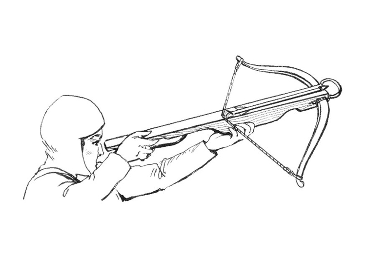 Coloring page cross bow