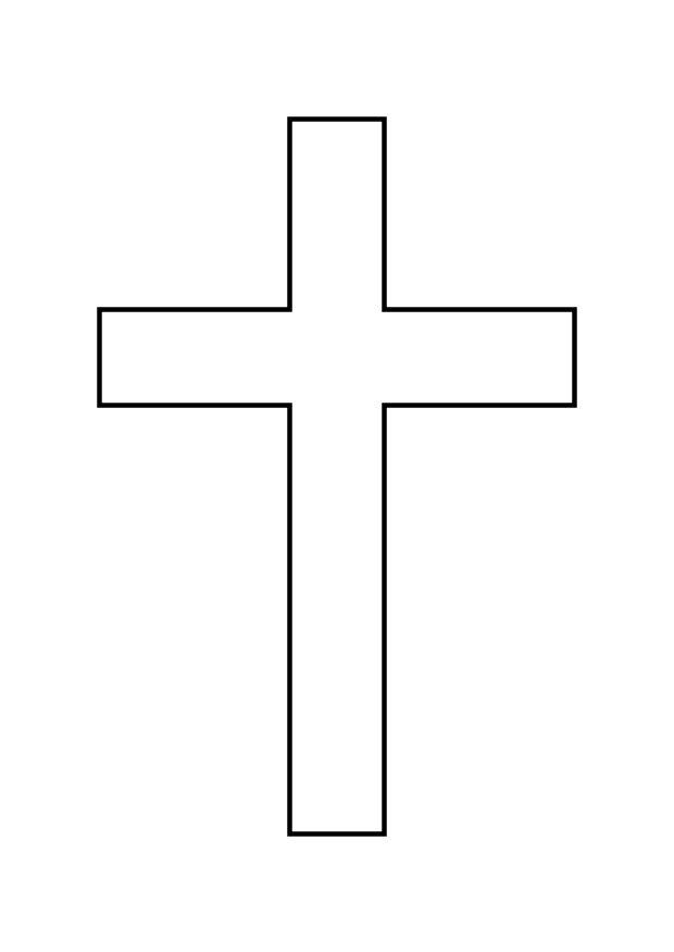 Coloring page cross - img 10340.