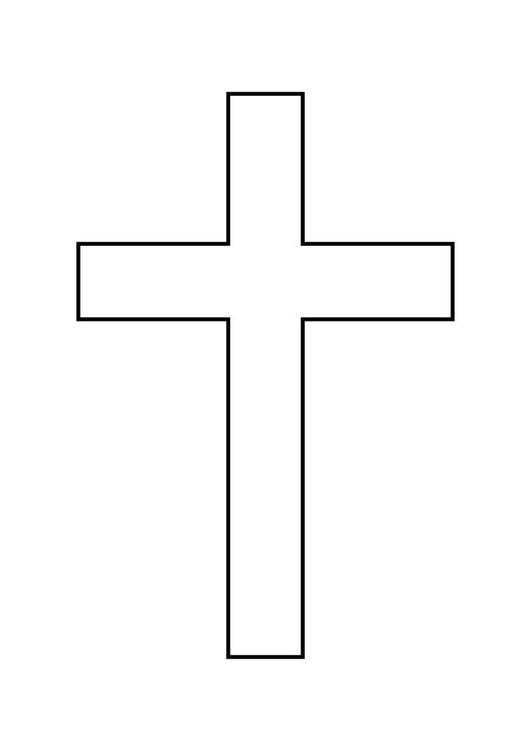 Coloring page cross