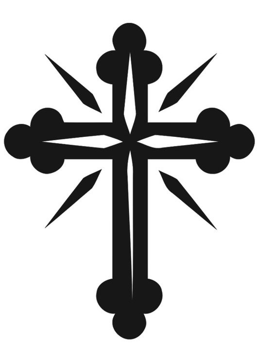 Coloring page cross - img 20528.