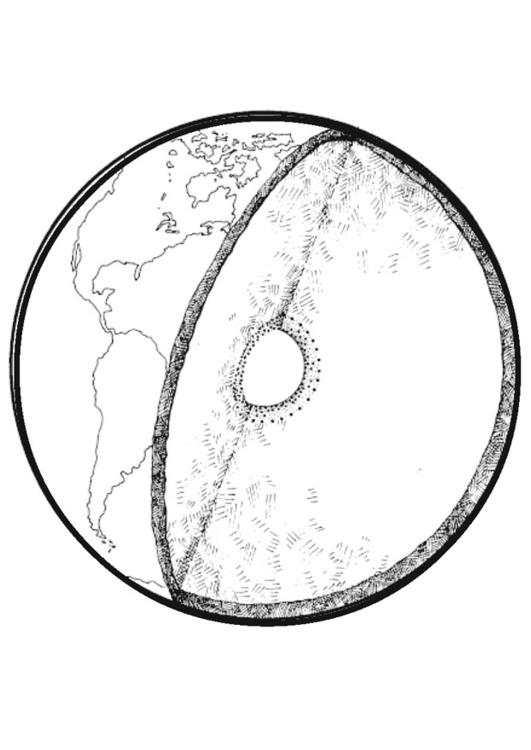 Cross section of Earth