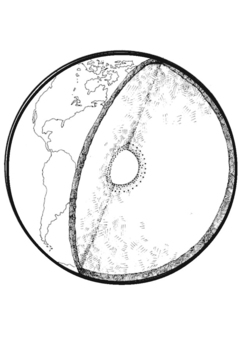 Coloring page Cross section of Earth