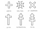 Coloring page crosses