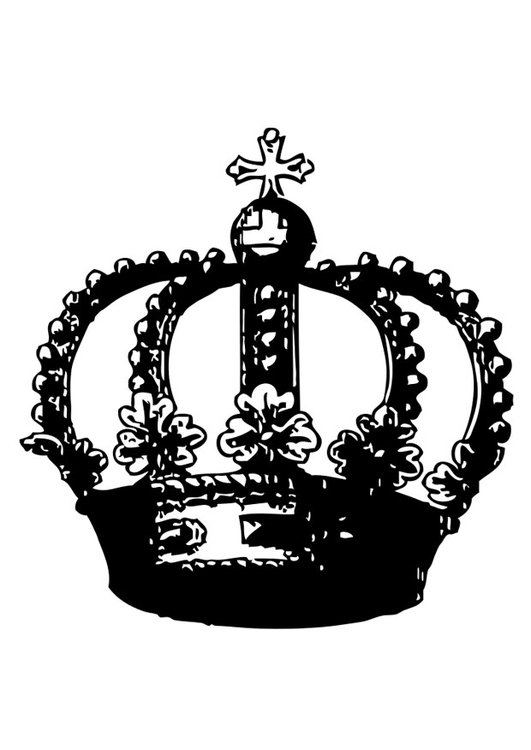 Coloring page crown
