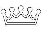 Coloring pages crown