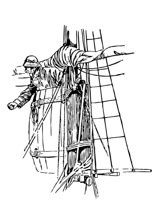 Coloring page crow's nest