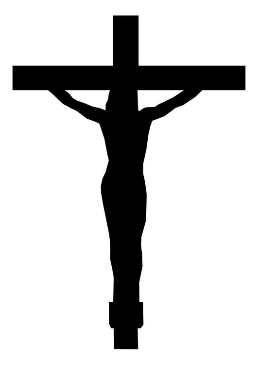Coloring page crucifix