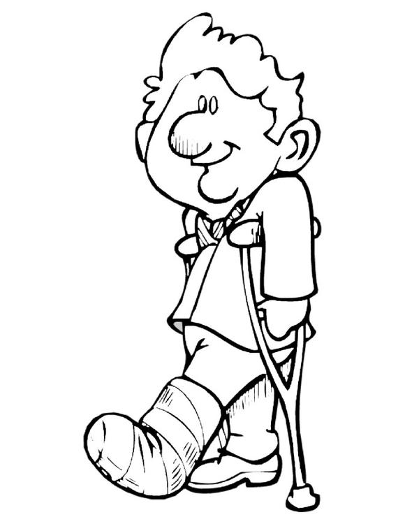 coloring page crutches img 10737 broken leg clip art free broken leg clip art for sports enthusiast