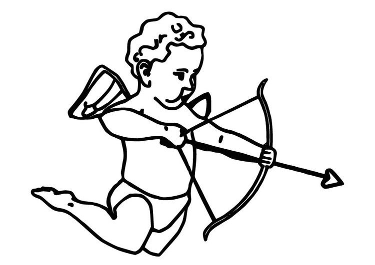 Coloring page Cupid