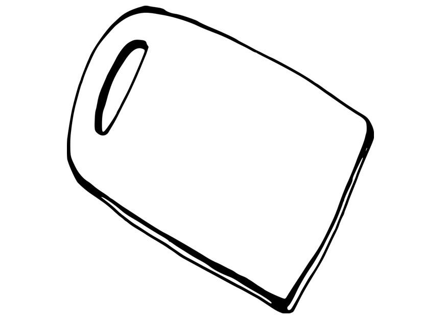 coloring page cutting board