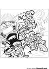 Coloring pages cyclist - skater