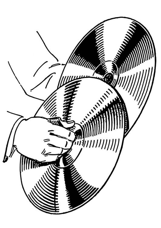 Coloring page Cymbal
