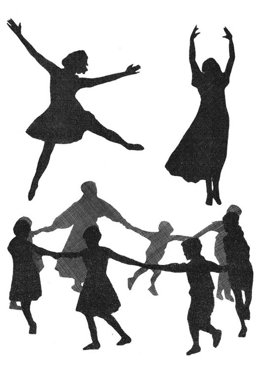Coloring page dance