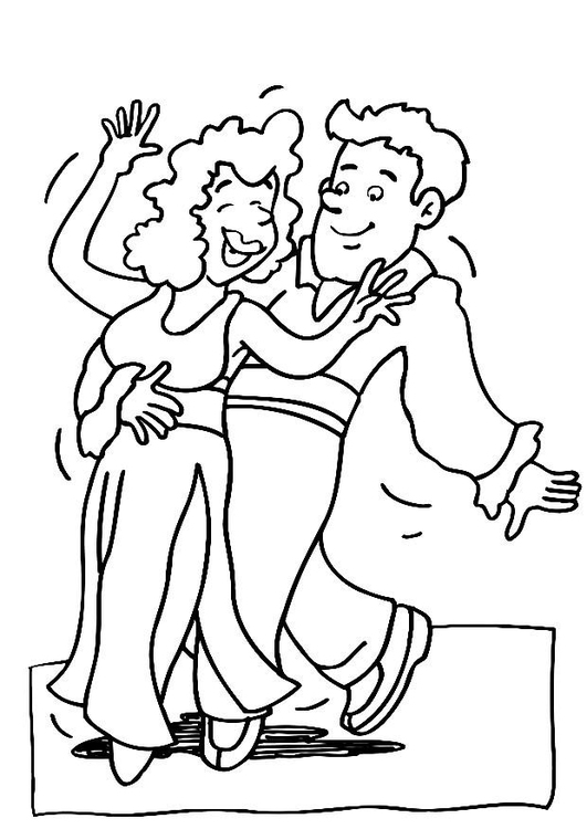 Coloring page dance - img 11960.