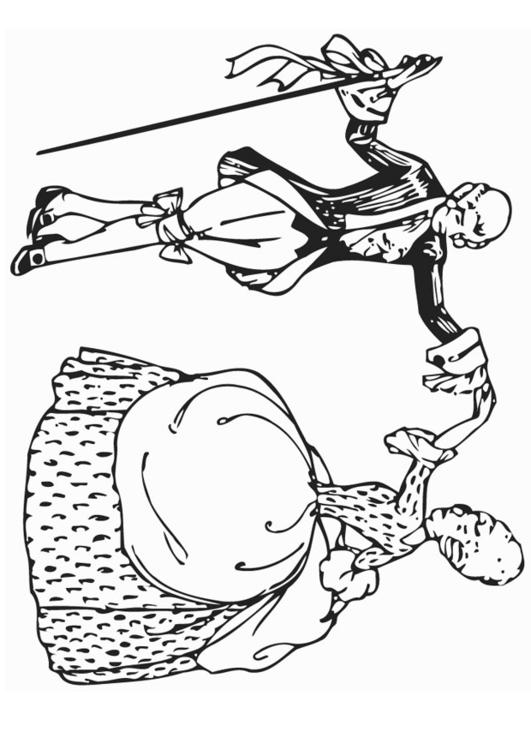 Coloring page dance - minuet - img 12958.