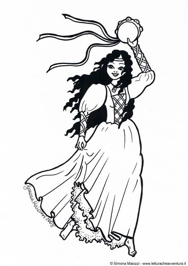 Coloring page dancer img 19009 - Danseuse flamenco dessin ...