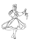 Coloring pages dancer