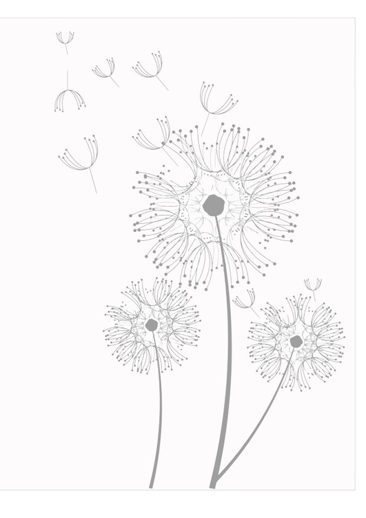 Coloring page dandelions