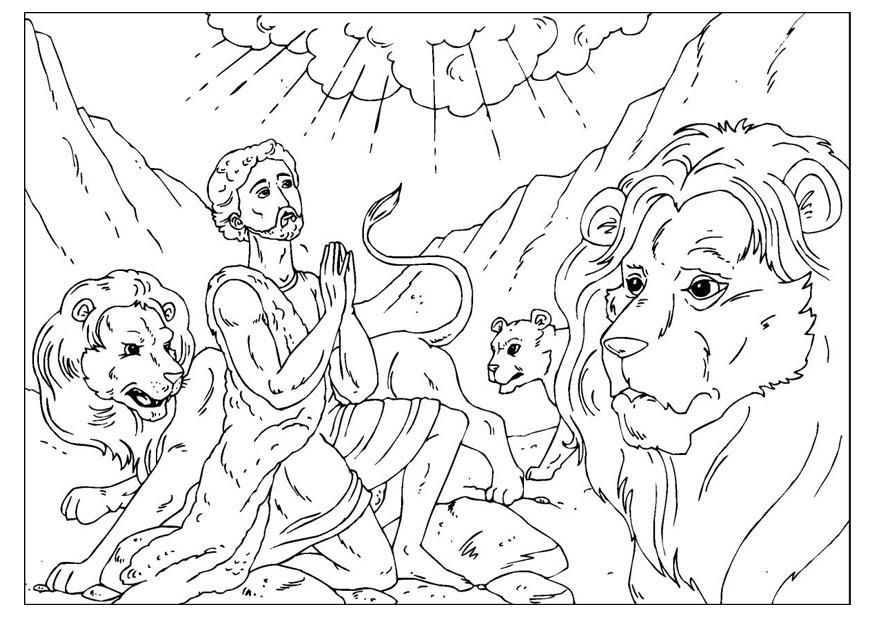 Coloring Page Daniel In The Lions Den Free Printable