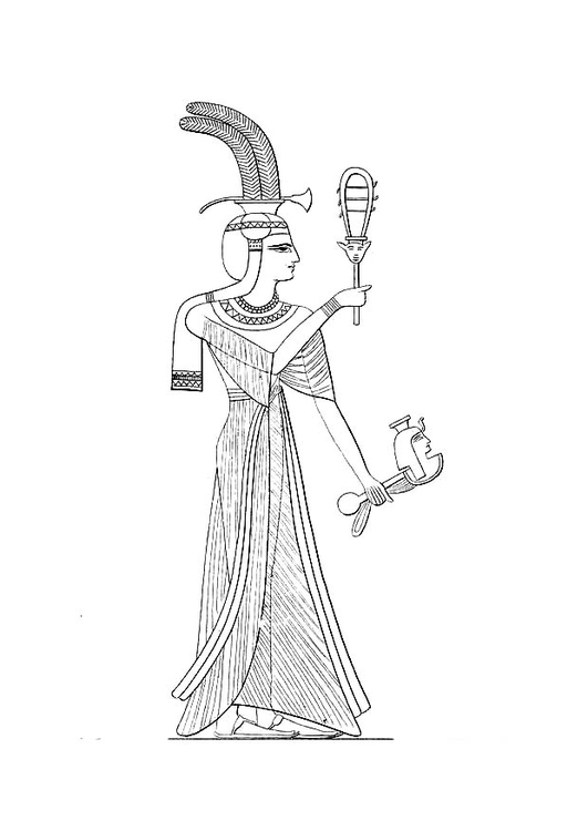 Coloring page daughter of Ramses II