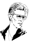 Coloring pages David Bowie